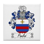 Paulini Family Crest Tile Coaster