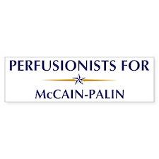 PERFUSIONISTS for McCain-Pali Bumper Bumper Bumper Sticker