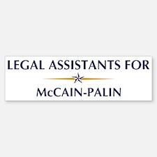 LEGAL ASSISTANTS for McCain-P Bumper Bumper Bumper Sticker