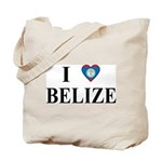 I Love Belize Tote Bag