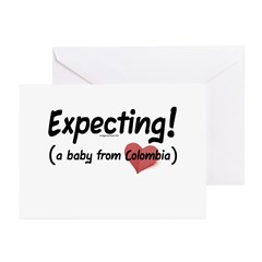 Expecting! Colombia adoption Greeting Cards (Pk of
