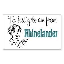 Best Girls Rhinelander Rectangle Decal