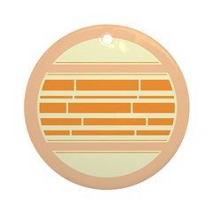 Orange Yellow Abstract Lines Ornament