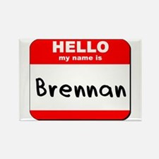 Hello my name is Brennan Rectangle Magnet