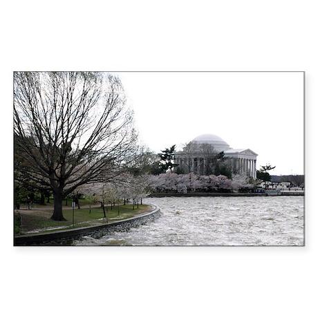 Jefferson Memorial Rectangle Sticker