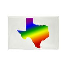 Texas Gay Pride Rectangle Magnet