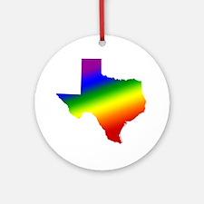 Texas Gay Pride Ornament (Round)