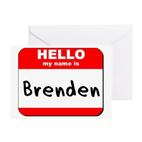 Hello my name is Brenden Greeting Cards (Pk of 10)