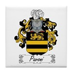 Pavoni Family Crest Tile Coaster
