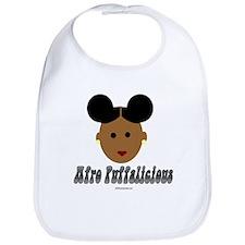 Afro Puffalicious Bib