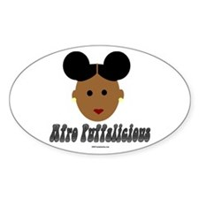 Afro Puffalicious Oval Decal
