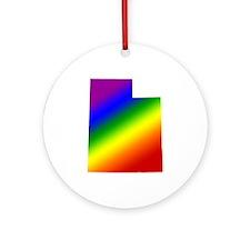 Utah Gay Pride Ornament (Round)