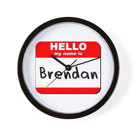 Hello my name is Brendan Wall Clock