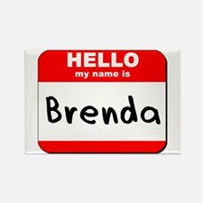 Hello my name is Brenda Rectangle Magnet