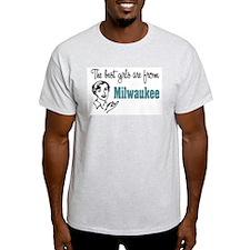 Best Girls Milwaukee Ash Grey T-Shirt
