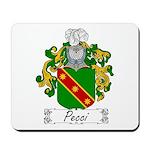 Pecci Family Crest Mousepad