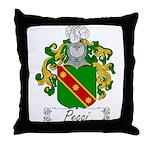 Pecci Family Crest Throw Pillow