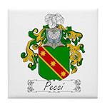 Pecci Family Crest Tile Coaster