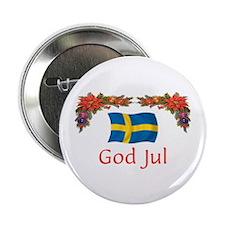 """Sweden God Jul 2 2.25"""" Button (10 pack)"""