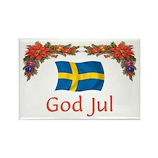 Sweden God Jul 2 Rectangle Magnet