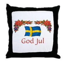 Sweden God Jul 2 Throw Pillow