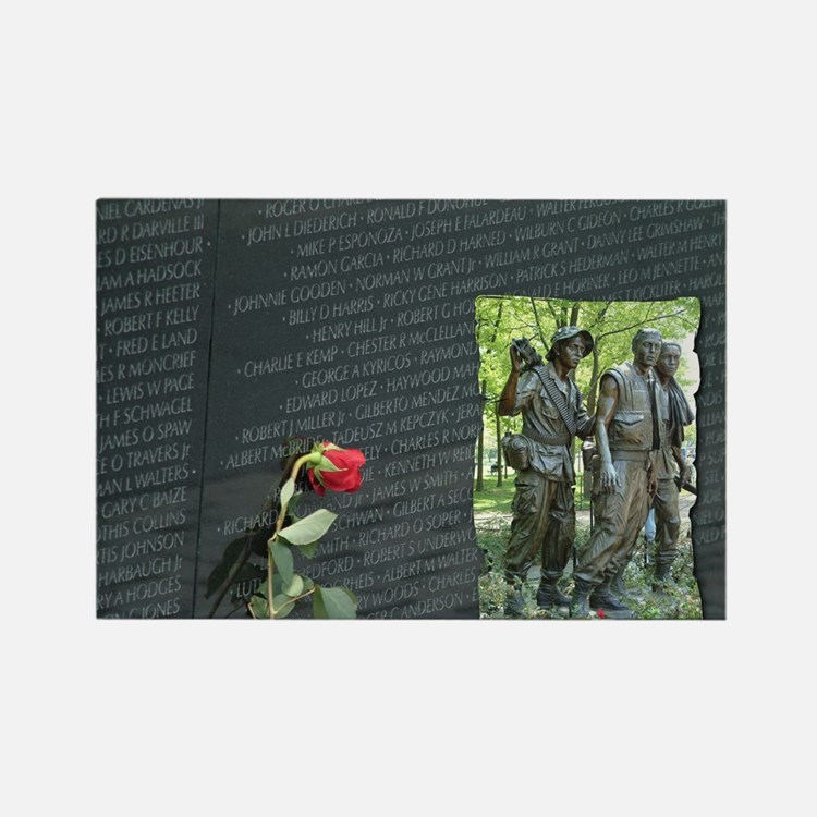 Cute Memorial vietnam Rectangle Magnet (10 pack)