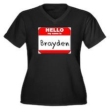 Hello my name is Brayden Women's Plus Size V-Neck