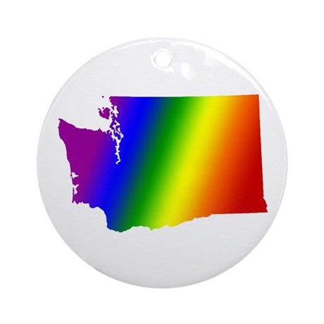 Washington Gay Pride Ornament (Round)