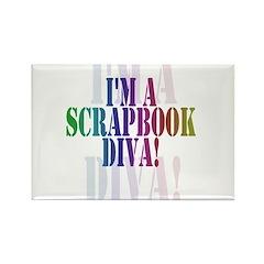 Scrapbook Diva Rectangle Magnet (10 pack)