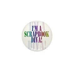 Scrapbook Diva Mini Button (10 pack)