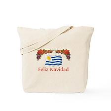 Uruguay Feliz Navidad Tote Bag