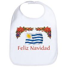 Uruguay Feliz Navidad Bib