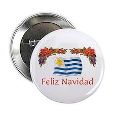 """Uruguay Feliz Navidad 2.25"""" Button"""