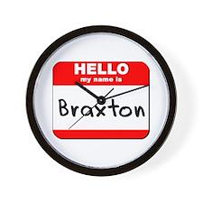 Hello my name is Braxton Wall Clock