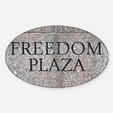 Freedom Plaza Oval Decal