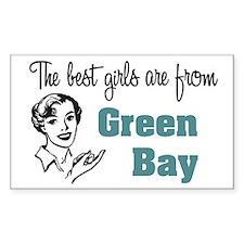 Best Girls Green Bay Rectangle Decal