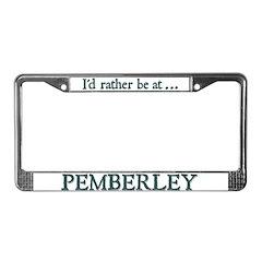 Pemberley License Plate Frame