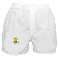 Veterinarian Chick Boxer Shorts