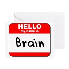 Hello my name is Brain Greeting Card