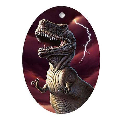 Lightning Rex 3 Oval Ornament