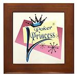Poker Princess Framed Tile