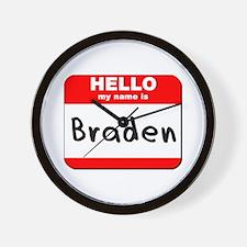Hello my name is Braden Wall Clock