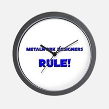 Metalwork Designers Rule! Wall Clock