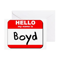 Hello my name is Boyd Greeting Cards (Pk of 10)