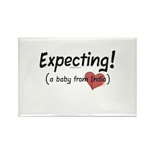 Expecting! India adoption Rectangle Magnet