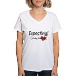 Expecting! Haiti adoption Women's V-Neck T-Shirt