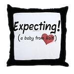 Expecting! Haiti adoption Throw Pillow