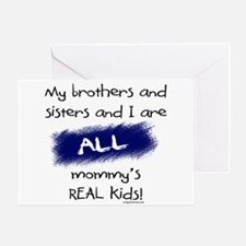 All are real kids Greeting Card