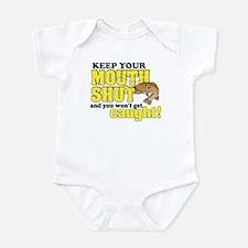 Keep Your Mouth Shut (Fishing) Infant Bodysuit