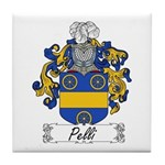 Pelli Family Crest Tile Coaster